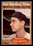 1962 Topps #472  All-Star  -  Rocky Colavito Front Thumbnail