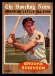 1962 Topps #468  All-Star  -  Brooks Robinson Front Thumbnail