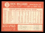 1964 Topps #153   Dick Williams Back Thumbnail