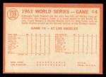 1964 Topps #139  1963 World Series - Game #4 - Sealing Yanks' Doom - Frank Howard  Back Thumbnail