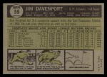 1961 Topps #55  Jim Davenport  Back Thumbnail