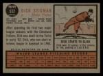 1962 Topps #532   Dick Stigman Back Thumbnail
