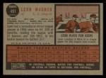 1962 Topps #491  Leon Wagner  Back Thumbnail