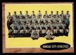 1962 Topps #384   Athletics Team Front Thumbnail