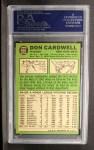 1967 Topps #555  Don Cardwell  Back Thumbnail