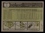 1961 Topps #1  Dick Groat  Back Thumbnail