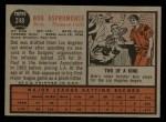 1962 Topps #248  Bob Aspromonte  Back Thumbnail