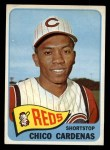1965 Topps #437   Leo 'Chico' Cardenas Front Thumbnail