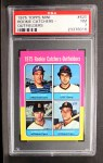 1975 Topps Mini #620   -  Gary Carter / Marc Hill / Danny Meyer / Leon Roberts Rookie Catchers-Outfielders Front Thumbnail