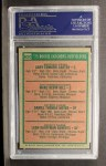 1975 Topps #620   Rookie Catchers - Outfielders    -  Gary Carter / Marc Hill / Danny Meyer / Leon Roberts Back Thumbnail