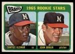 1965 Topps #82   Braves Rookie Stars  -  Sandy Alomar / John Braun Front Thumbnail