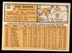 1963 Topps #268  Don Demeter  Back Thumbnail