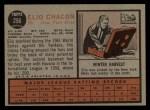 1962 Topps #256  Elio Chacon  Back Thumbnail