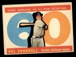 1960 Topps #568  All-Star  -  Del Crandall Front Thumbnail