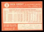 1964 Topps #40  Dick Groat  Back Thumbnail