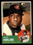 1963 Topps #187  Willie Kirkland  Front Thumbnail