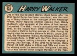 1965 Topps #438  Harry Walker  Back Thumbnail