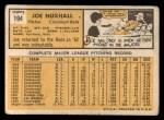 1963 Topps #194   Joe Nuxhall Back Thumbnail