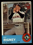 1963 Topps #294   Bill Rigney Front Thumbnail