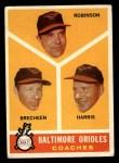 1960 Topps #455  Orioles Coaches  -  Eddie Robinson / Harry Brecheen / Luman Harris Front Thumbnail