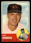 1963 Topps #333   Carl Warwick Front Thumbnail