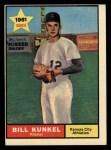 1961 Topps #322   Bill Kunkel Front Thumbnail
