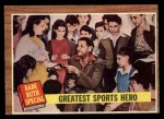 1962 Topps #143 A Greatest Sports Hero  -  Babe Ruth Front Thumbnail