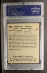 1939 Play Ball #139   Vito Tamulis Back Thumbnail