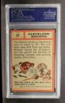 1962 Topps #37  Browns Team  Back Thumbnail