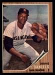 1962 Topps #378  Bennie Daniels  Front Thumbnail