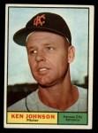 1961 Topps #24  Ken Johnson  Front Thumbnail