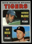 1970 Topps #207  Tigers Rookies  -  Norman McRae / Bob Reed Front Thumbnail