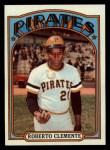 1972 Topps #309   Roberto Clemente Front Thumbnail
