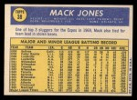 1970 Topps #38   Mack Jones Back Thumbnail