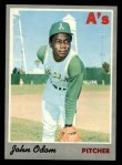 1970 Topps #55  Blue Moon Odom  Front Thumbnail