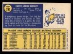 1970 Topps #297   Curt Blefary Back Thumbnail