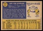 1970 Topps #632  Gary Sutherland  Back Thumbnail