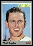 1970 Topps #76   Carl Taylor Front Thumbnail