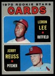 1970 Topps #96  Cardinals Rookie Stars  -  Leron Lee / Jerry Reuss Front Thumbnail
