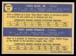 1970 Topps #21  Athletics Rookie Stars  -  Gene Tenace / Vida Blue Back Thumbnail