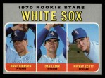 1970 Topps #669  White Sox Rookie Stars  -  Bart Johnson / Dan Lazar / Mickey Scott Front Thumbnail