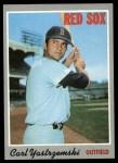 1970 Topps #10  Carl Yastrzemski  Front Thumbnail