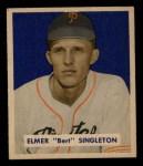 1949 Bowman #147  Elmer Singleton  Front Thumbnail