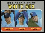 1970 Topps #669  White Sox Rookie Stars  -  Bart Johnson / Dan Lazar / Mickey Scott Front Thumbnail