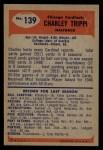 1955 Bowman #139  Charley Trippi  Back Thumbnail