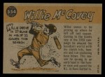 1960 Topps #554   -  Willie McCovey All-Star Back Thumbnail