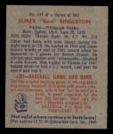 1949 Bowman #147  Elmer Singleton  Back Thumbnail