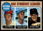 1968 Topps #11   -  Jim Bunning / Ferguson Jenkins / Gaylord Perry NL Strikeout Leaders Front Thumbnail