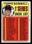 1969 Topps #57 A Checklist 1  -  Denny McLain Front Thumbnail
