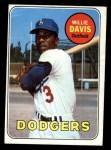 1969 Topps #65  Willie Davis  Front Thumbnail